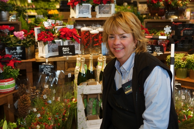 Mary Zickler with her floral creations - Photographed by Julie Linnekin