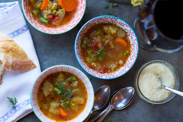 Nana's Minestrone Soup - Photographed by Sally Roeckell