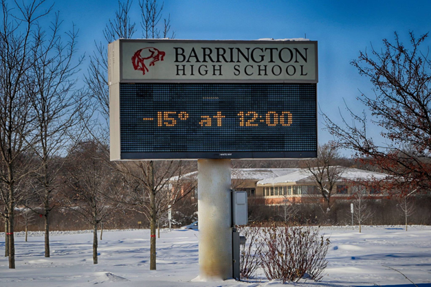 The Marquis at Barrington High School Says it All - Photographed by Ron Johnson