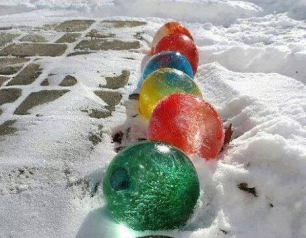 Giant Frozen Marbles - Photo Submitted by Nicole Danca
