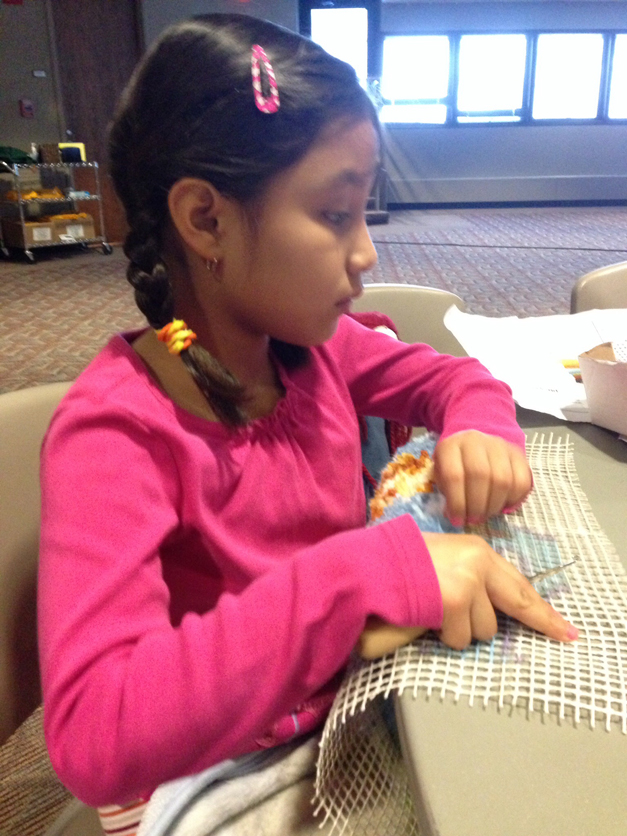 Ways to Spend a Barrington 220 Cold/Snow Day - Latch Hook WonderArt - Submitted by Fabiola Aguillon