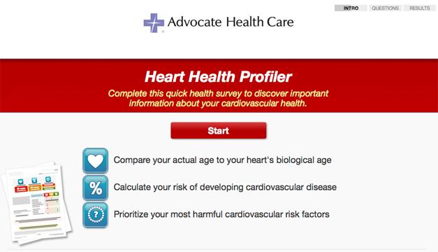 Advocate Health Care's Heart Health Profiler