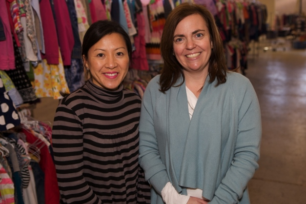 Ki Kellen, who will bring 25 moms to the sale, and Jenny Welsh - Photographed by Julie Linnekin