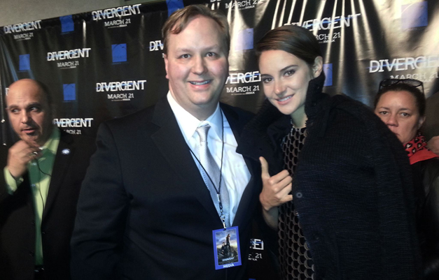 BHS-TV Teacher, Jeff Doles, with Shailene Woodley