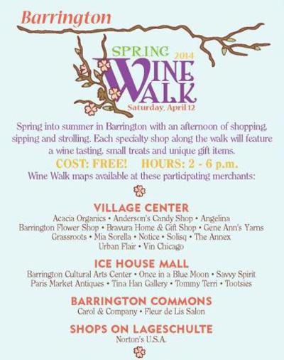 Post - Spring Wine Walk Barrington