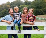 Dominic and Jessica Green with their boys Henry and Oliver - Photograph courtesy of Christina Noel