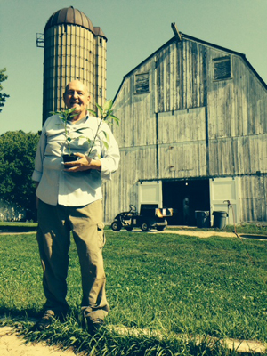 Tony Mensik with The Gentleman Farmer's Work for a Share Program - Courtesy of The Gentleman Farmer