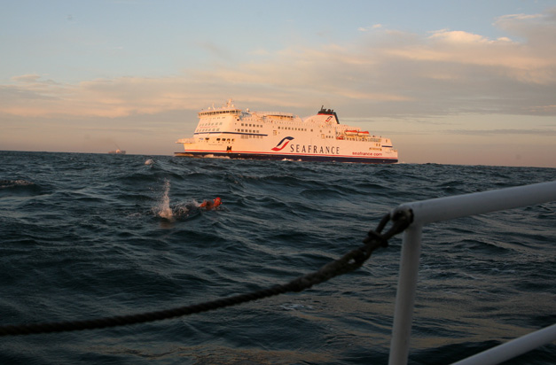 Doug McConnell Swims the English Channel - Photographed by Susan McConnell