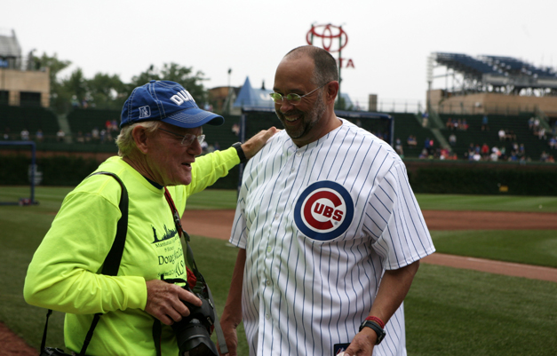 Bob Lee Photographs Doug McConnel's First Pitch a the June 25, 2014 Cubs vs. Cincinnati Reds Game - Photographed by Susan McConnell