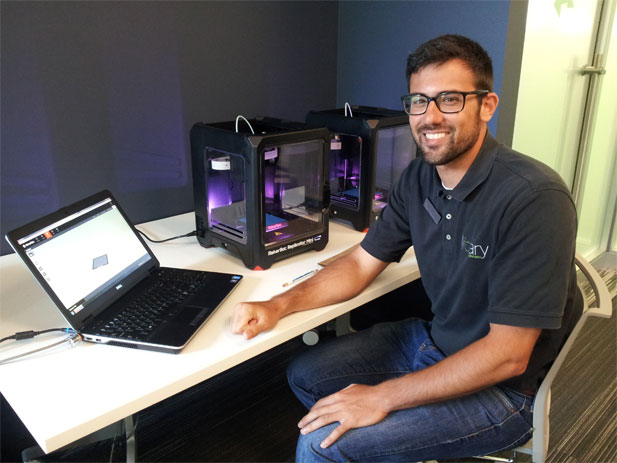 Meet Digital Services Manager Mike Campagna in the library's new MakerLab
