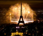 Bastille Day Fireworks at the Eiffel Tower in Paris, France