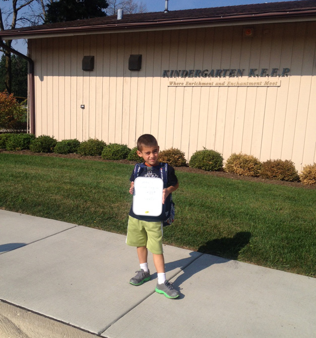 Max's First day of Kindergarten - Submitted by Mom, Jennifer Sahinoglu