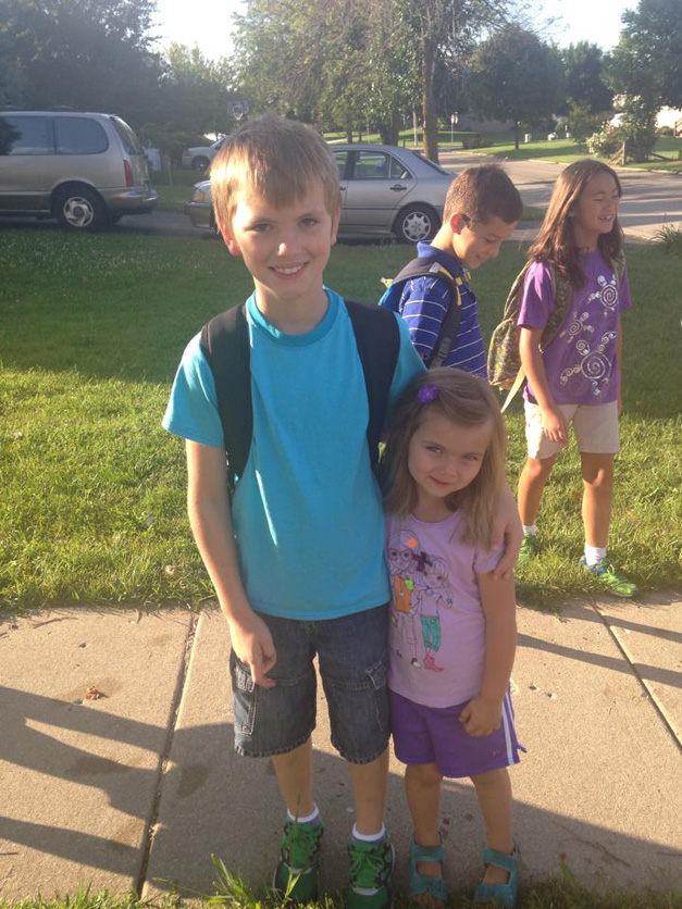 4th Grader and a 4-year-old - Submitted by mom, Kristen Neuman