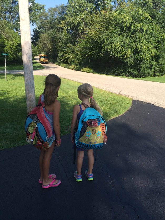 The Kepler Sisters on the First Day of 4th & 2nd Grade - Submitted by Mom, Melanie Kepler
