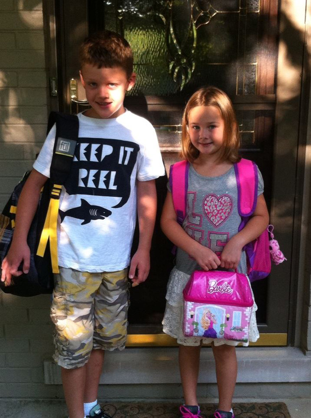 """""""First Day of 1st and 3rd Grade."""" - Submitted by mom, Windy Kopecky"""