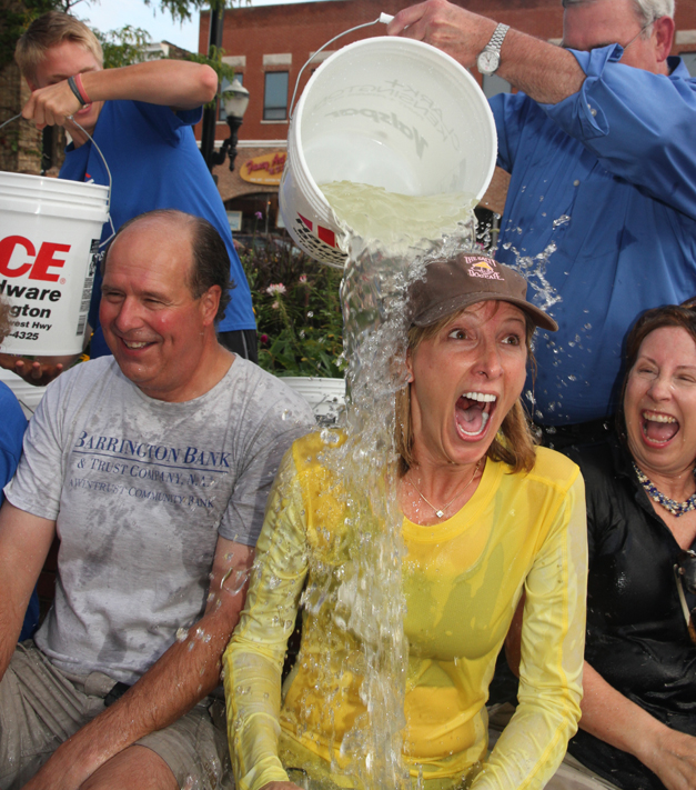 Barrington's ice Bucket Challenge - Photographed by Anne Lee