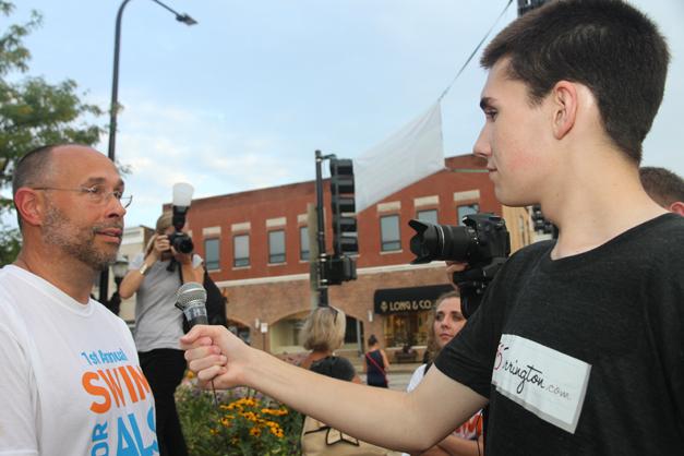 365BarringotnTV Reporter James Owen and Filmer Alex Gaul Cover Barrington's Ice Bucket Challenge
