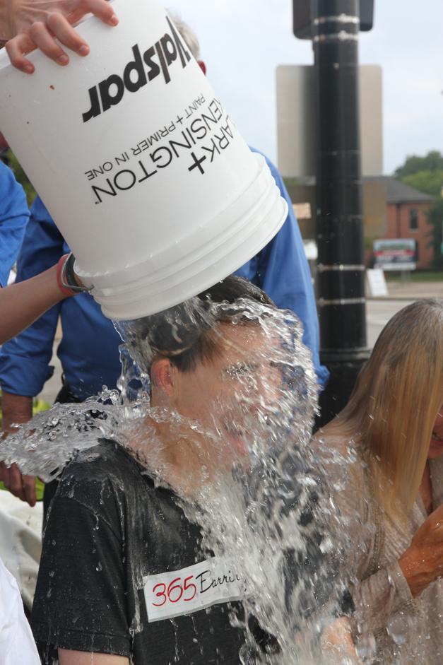 365BarringtonTV Reporter James Owen Takes Barrington's Ice Bucket Challenge