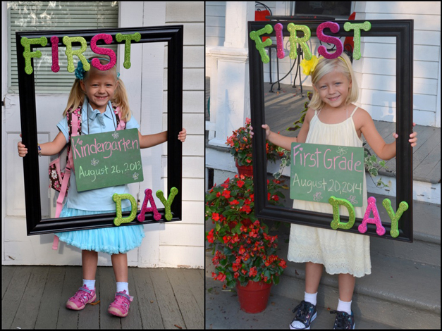 Madilyn on her first days of Kindergarten & First Grade - Submitted by Mom, Dawn Van Ryn
