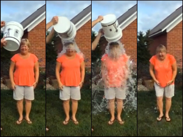 Barrington's Sue Randall Takes the Ice Bucket Challenge