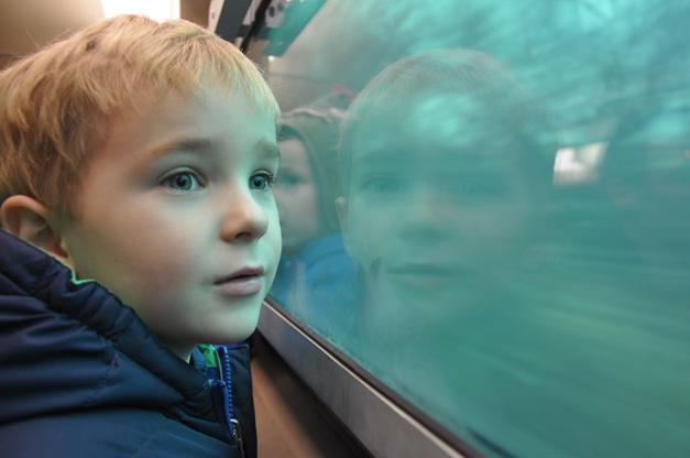 "Children Visit Santa's Workshop via Barrington Park District's ""Santa Express"" Metra Train Car"