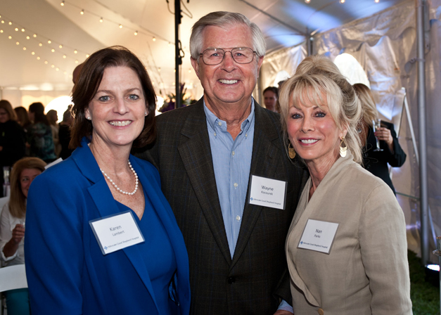 Advocate Good Shepherd Hospital President Karen Lambert (left) joins donors Wayne and Nan Kocourek at the fall 2013 groundbreaking for the hospital's historic modernization project. Since then, the Look Forward fundraising campaign to help fund the project has raised $20.5 million in charitable contributions from generous Barrington-area residents.