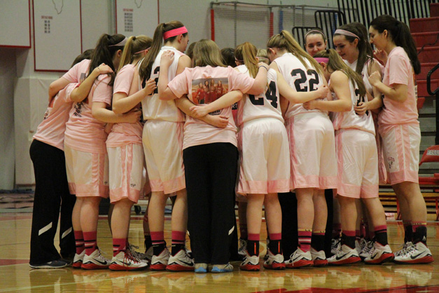 BHS Girls Basketball Senior Night - Photo by Gus Goetze