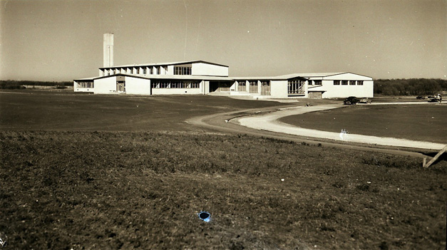 Barrington HIgh School in 1950 - Courtesy of the Shales Collection