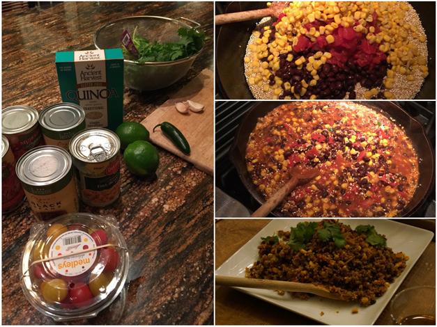 Post - Collage - Mia Sorella Sisters - Heinen's Sunday Supper - One Pot Mexican Quinoa