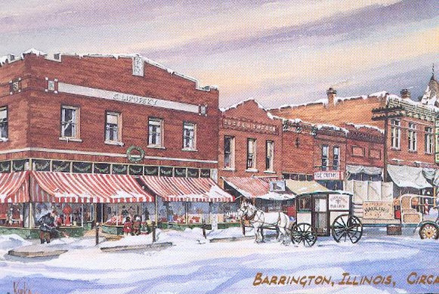Lipofsky's Department Store - Original Watercolor by David Kurka, 1990