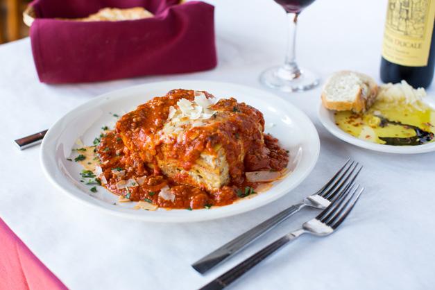 Mandile's Housemade Lasagna - Photo by Sally Roeckell