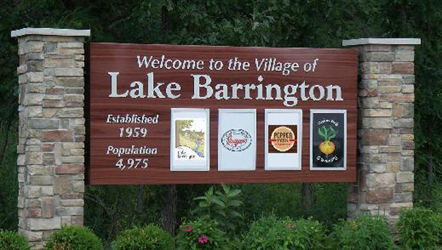 Post - Lake Barrington Gateway Sign
