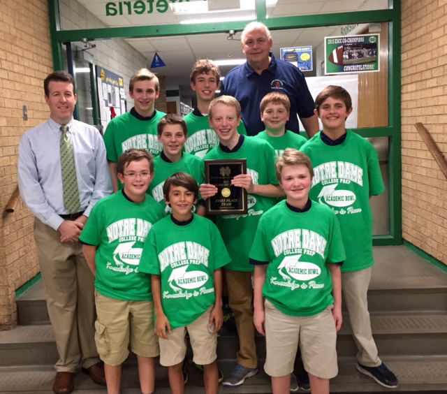 Saint Anne Parish School - Scholastic Bowl Champs at Notre Dame - 1