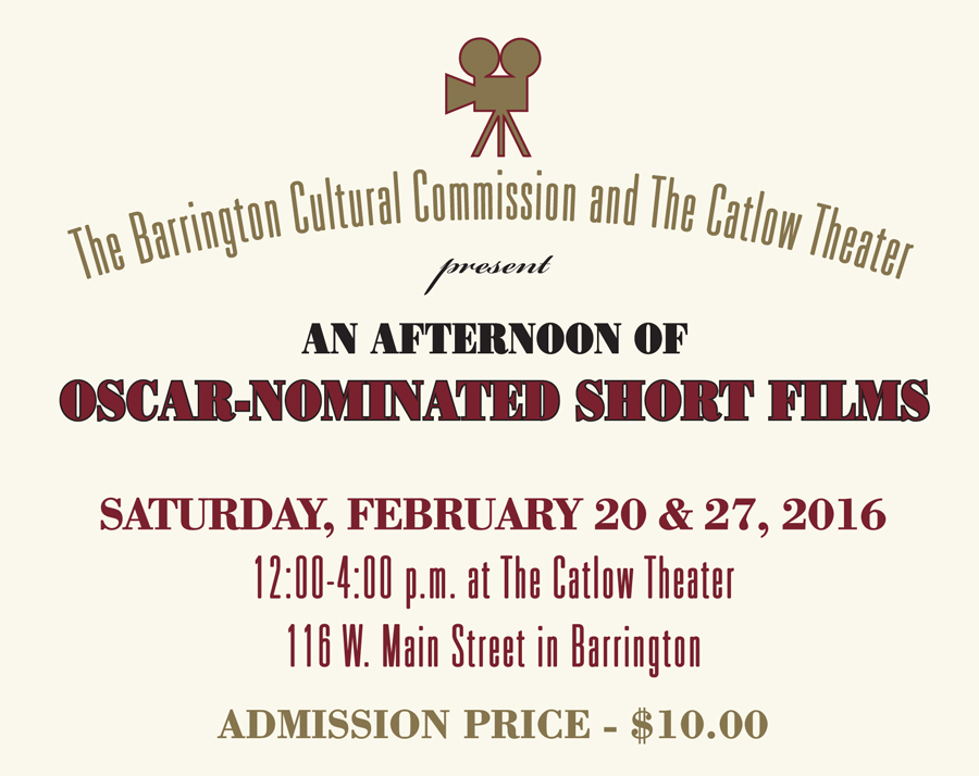 Post - Oscar Shorts at Catlow Theater - Featured
