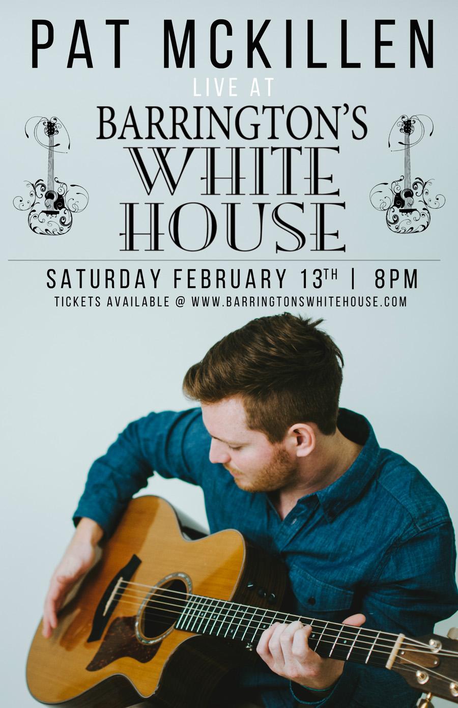 Post - Pat McKillen - Live at Barrington's White House